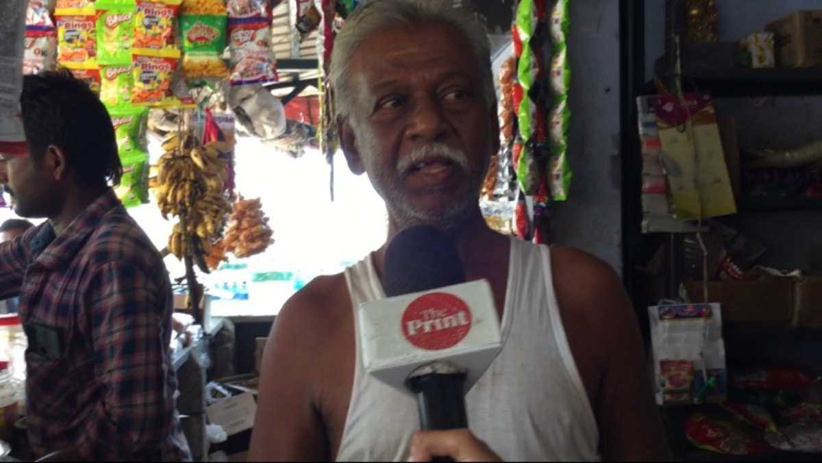 Raja Hassan, owner of a tea stand in Andipatti in the Madurai district |  Revathi Krishnan